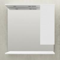 Зеркало-шкаф 1MarKa Кода 80 Лайт белый глянец