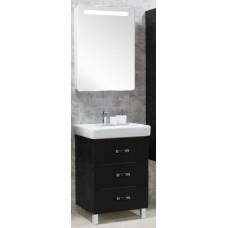 Мебель для ванной Акватон Америна 60 М напольная черная левая