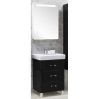Мебель для ванной Акватон Америна 60 М напольная черная правая