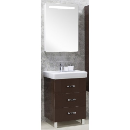 Мебель для ванной Акватон Америна 60 М напольная темно-коричневая левая