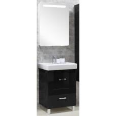 Мебель для ванной Акватон Америна 60 Н напольная черная левая
