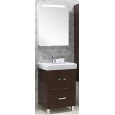 Мебель для ванной Акватон Америна 60 Н напольная темно-коричневая левая