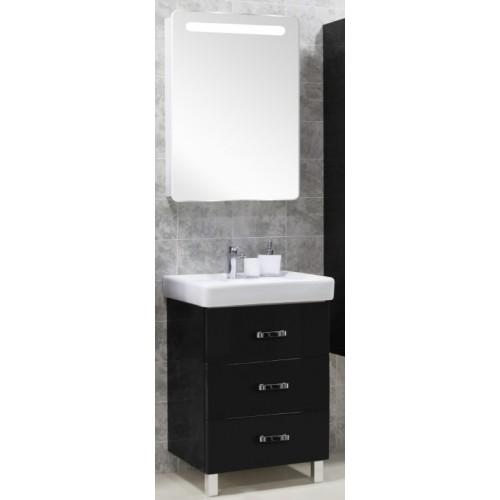 Мебель для ванной Акватон Америна 70 М напольная черная левая
