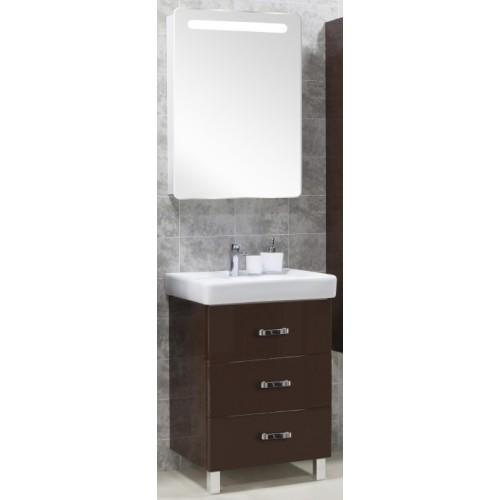 Мебель для ванной Акватон Америна 70 М напольная темно-коричневая правая
