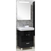 Мебель для ванной Акватон Америна 70 Н напольная черная левая