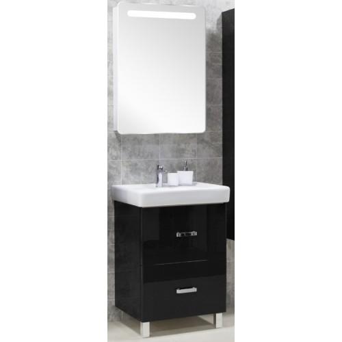Мебель для ванной Акватон Америна 70 Н напольная черная правая