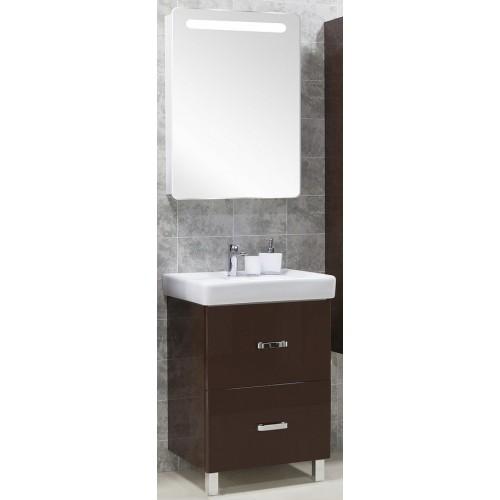 Мебель для ванной Акватон Америна 70 Н напольная темно-коричневая левая