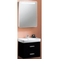 Мебель для ванной Акватон Америна 70 подвесная черная левая