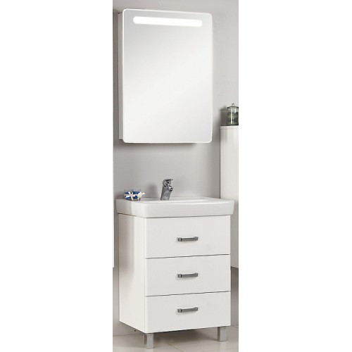 Мебель для ванной Акватон Америна 80 М напольная белая правая