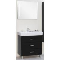 Мебель для ванной Акватон Америна 80 М напольная черная