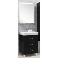 Мебель для ванной Акватон Америна 80 М напольная черная правая