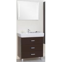 Мебель для ванной Акватон Америна 80 М напольная темно-коричневая