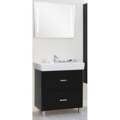 Мебель для ванной Акватон Америна 80 Н напольная черная