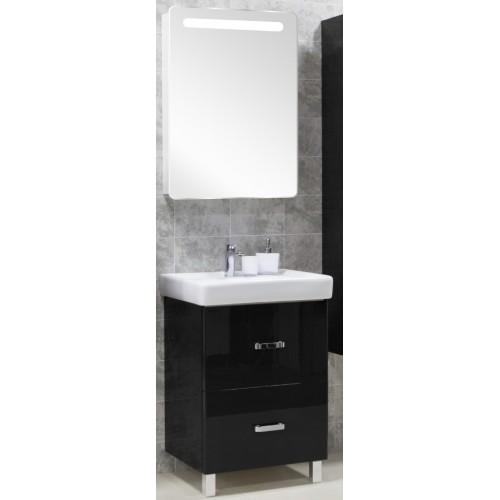 Мебель для ванной Акватон Америна 80 Н напольная черная левая