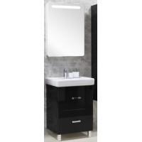 Мебель для ванной Акватон Америна 80 Н напольная черная правая