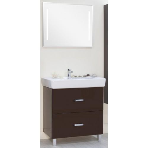 Мебель для ванной Акватон Америна 80 Н напольная темно-коричневая