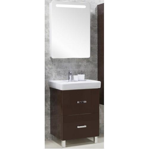 Мебель для ванной Акватон Америна 80 Н напольная темно-коричневая правая