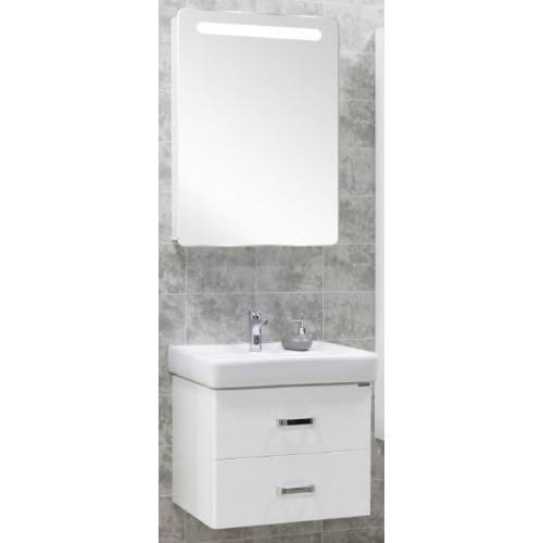 Мебель для ванной Акватон Америна 80 подвесная белая левая