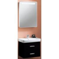Мебель для ванной Акватон Америна 80 подвесная черная левая