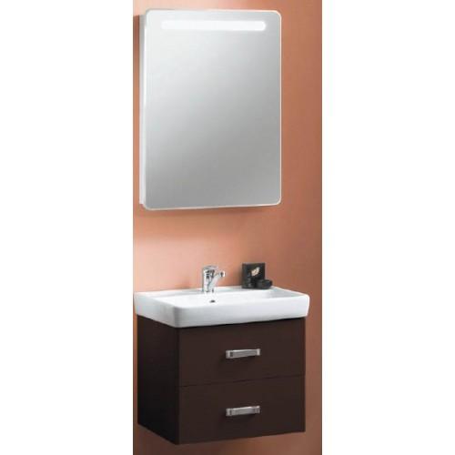 Мебель для ванной Акватон Америна 80 подвесная темно-коричневая правая