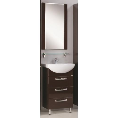Мебель для ванной Акватон Ария 50 Н напольная темно-коричневая