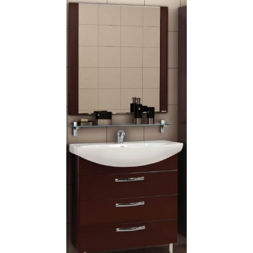 Мебель для ванной Акватон Ария 80 Н напольная темно-коричневая