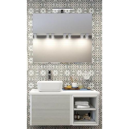 Мебель для ванной Акватон Брук 100 (60+40) подвесная дуб латте с полкой