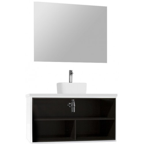 Мебель для ванной Акватон Брук 100 подвесная открытая дуб феррара