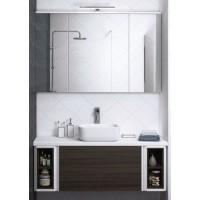 Мебель для ванной Акватон Брук 120 (20+80+20) подвесная дуб феррара
