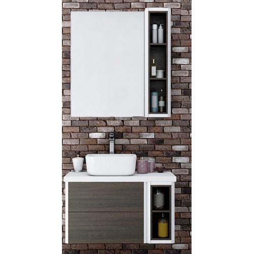 Мебель для ванной Акватон Брук 80 (60+20) подвесная дуб феррара