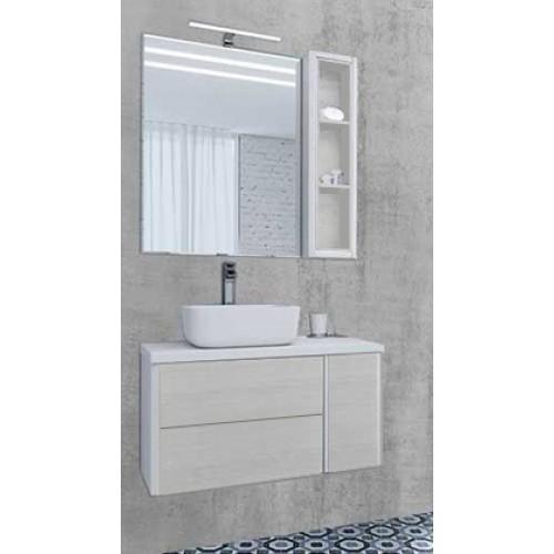 Мебель для ванной Акватон Брук 80 (60+20) подвесная дуб латте