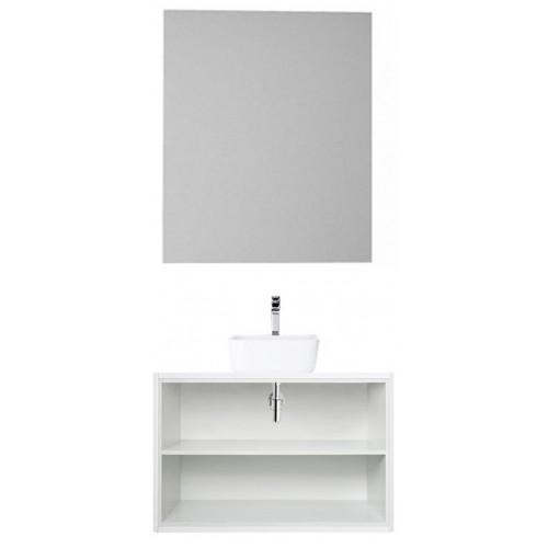 Мебель для ванной Акватон Брук 80 подвесная открытая дуб латте