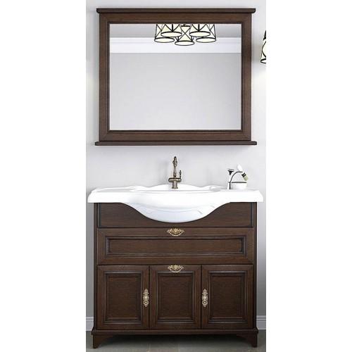 Мебель для ванной Акватон Идель 85 напольная дуб шоколадный