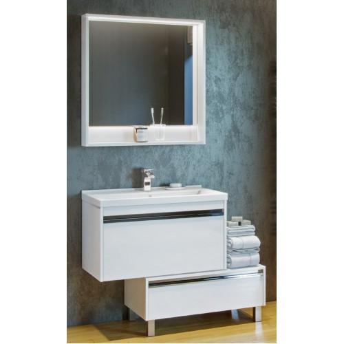 Мебель для ванной Акватон Капри 80 подвесная белый глянец