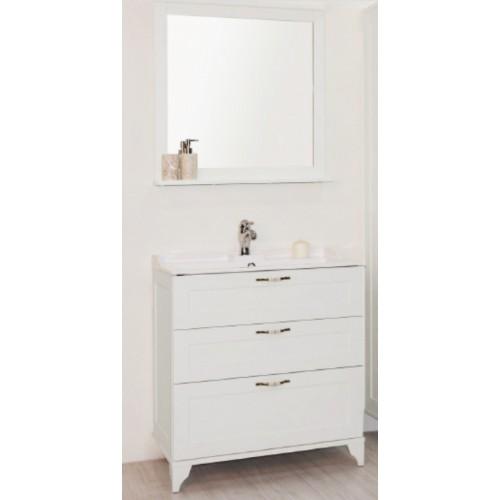Мебель для ванной Акватон Леон 80 напольная дуб белый