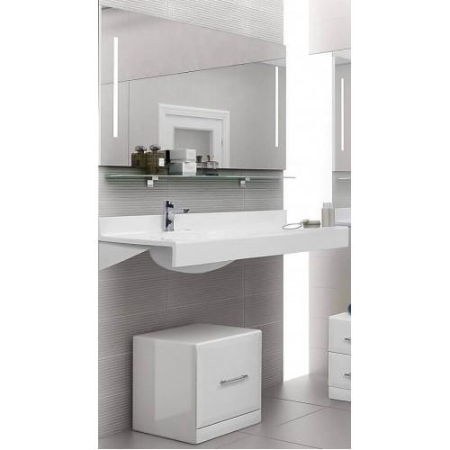 Мебель для ванной Акватон Отель 100 подвесная левая с полкой