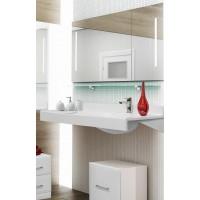 Мебель для ванной Акватон Отель 120 подвесная правая с полкой
