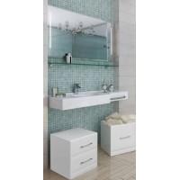 Мебель для ванной Акватон Отель 127 подвесная левая с полкой