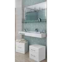 Мебель для ванной Акватон Отель 127 подвесная правая с полкой