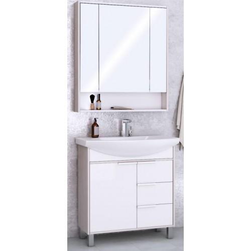 Мебель для ванной Акватон Рико 85 напольная с зеркальным шкафом