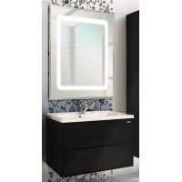Мебель для ванной Акватон Римини 80 подвесная черная глянцевая с раковиной Премьер М 80