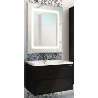 Мебель для ванной Акватон Римини 80 подвесная черная глянцевая с раковиной Victoria 80
