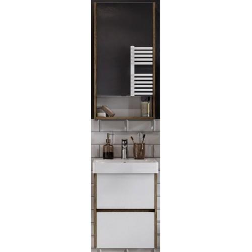 Мебель для ванной Акватон Сканди 45 подвесная белая дуб рустикальный