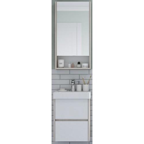 Мебель для ванной Акватон Сканди 45 подвесная белая дуб верона