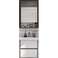 Мебель для ванной Акватон Сканди 55 подвесная белая дуб рустикальный