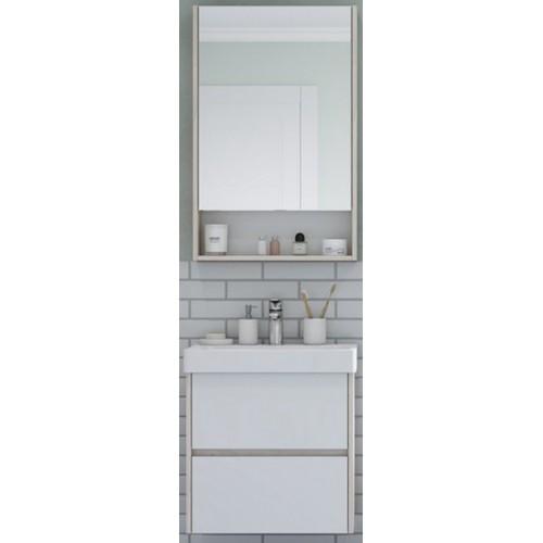 Мебель для ванной Акватон Сканди 55 подвесная белая дуб верона