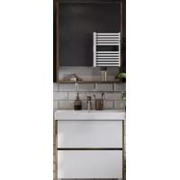 Мебель для ванной Акватон Сканди 70 подвесная или напольная белая дуб рустикальный