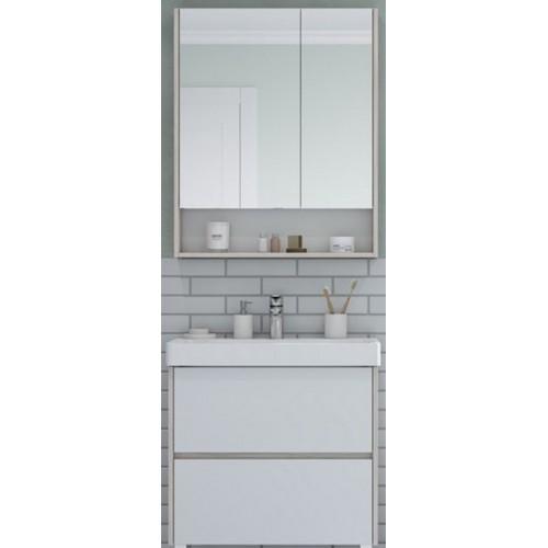 Мебель для ванной Акватон Сканди 70 подвесная или напольная белая дуб верона