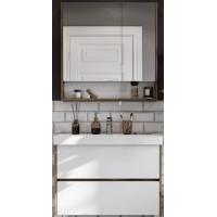 Мебель для ванной Акватон Сканди 90 подвесная или напольная белая дуб рустикальный