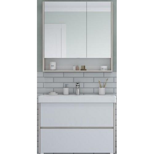 Мебель для ванной Акватон Сканди 90 подвесная или напольная белая дуб верона